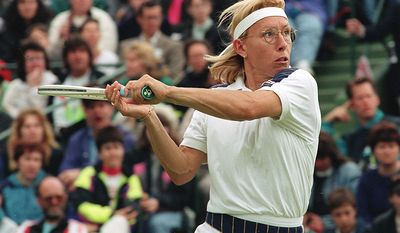 Martina Navratilova - In 2005, Tennis magazine selected her as the greatest female tennis player for the years 1965 through 2005. Navratilova was World No. 1 for a total of 332 weeks in singles, and a record 237 weeks in doubles, making her the only player in history to have held the top spot in both singles and doubles for over 200 weeks. She was year-end singles No. 1 seven times, including a record five consecutive years, as well as year-end doubles No. 1 five times, including three consecutive years during which she held the ranking for the entire year. She won 18 Grand Slam singles titles, 31 major women's doubles titles (an all-time record), and 10 major mixed doubles titles, marking the open-era record for most Grand Slam titles. She reached the Wimbledon singles final 12 times, including nine consecutive years from 1982 through 1990, and won the women's singles title at Wimbledon a record nine times, including a run of six consecutive titles  the best performance by any professional player at a major event.  (AP Photo)
