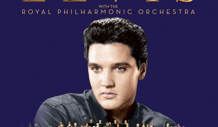 """This cover image released by Sony Legacy shows, """"The Wonder of You: Elvis Presley with The Royal Philharmonic Orchestra."""" (Sony Legacy via AP)"""