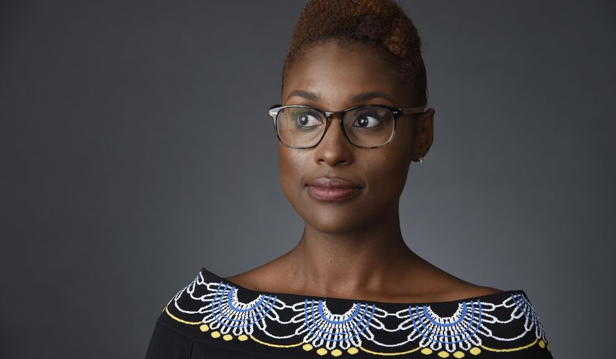 """In this July 30, 2016 photo, Issa Rae, star of the HBO series """"Insecure,"""" poses for a portrait during the 2016 Television Critics Association Summer Press Tour in Beverly Hills, Calif. """"Insecure"""" airs Sundays at 10:30p.m. on HBO. (Photo by Chris Pizzello/Invision/AP)"""