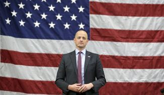 Independent candidate Evan McMullin speaks during a rally Friday, Oct. 21, 2016, in Draper, Utah. Two months after he jumped into the presidential race as a political unknown on the fringe, McMullin is surging in the polls in Utah and drawing large crowds at rallies as he becomes the conduit for conservative voters fed up with Republican Donald Trump's crudeness and antics. (AP Photo/Rick Bowmer)