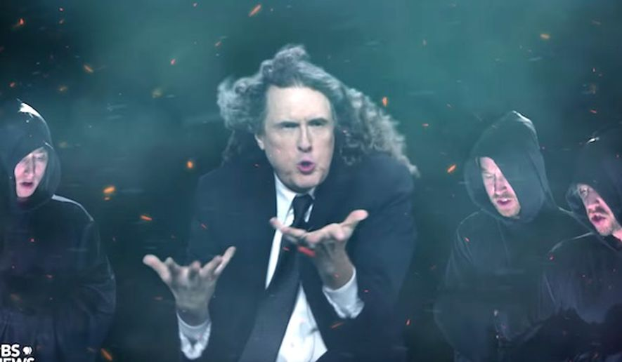 """Weird Al"" stars in the election parody video ""Bad Hombres, Nasty Woman."" (YouTube, schmoyoho)"