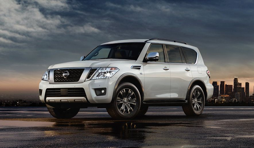 It's a full-size family adventure, at least that's what the Nissan folks are touting when they mention the redesigned 2017 Nissan Armada. An SUV with three rows, towing capabilities and an off road vibe, the Armada is a do it all kind of vehicle for the new year. (Courtesy of Nissan)
