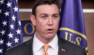 """Rep. Duncan Hunter, California Republican and a former Marine captain, said the military's trying to get soldiers to pay back bonuses is """"boneheaded."""" (Associated Press)"""