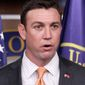 "Rep. Duncan Hunter, California Republican and a former Marine captain, said the military's trying to get soldiers to pay back bonuses is ""boneheaded."" (Associated Press)"