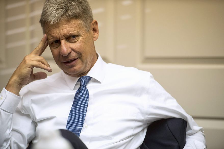 Libertarian candidate for President Gary Johnson admits he has little chance of winning, but hopes he can garner at least 5 percent of the vote. (Associated Press)