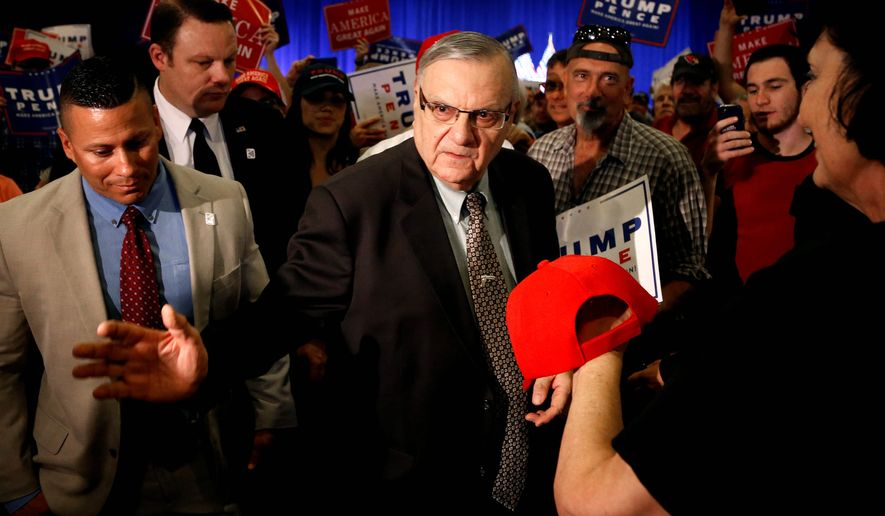 """The reign of Maricopa Country Sheriff Joe Arpaio, billed as """"America's Toughest Sheriff"""" for his approach to illegal immigration, is in jeopardy as Arizona's voters are increasingly Hispanic. Sheriff Arpaio's support of Donald Trump may also prove a liability. (Associated Press)"""
