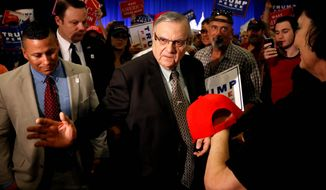 "The reign of Maricopa Country Sheriff Joe Arpaio, billed as ""America's Toughest Sheriff"" for his approach to illegal immigration, is in jeopardy as Arizona's voters are increasingly Hispanic. Sheriff Arpaio's support of Donald Trump may also prove a liability. (Associated Press)"