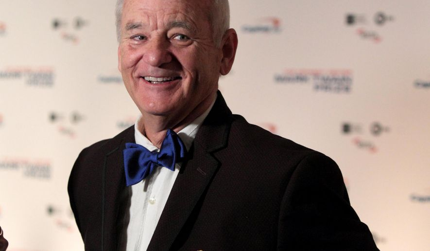 Bill Murray arrives at the Kennedy Center for the Performing Arts for the 19th Annual Mark Twain Prize for American Humor presented to Bill Murray on Sunday, Oct. 23, 2016, in Washington. (Photo by Owen Sweeney/Invision/AP)