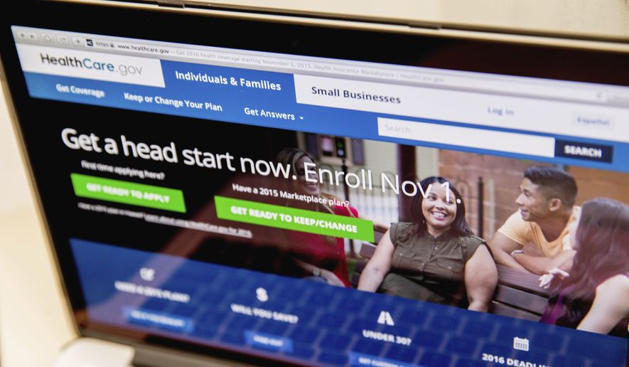 """Customers who rely on the program will get their first clear look at rising rates Monday as they log onto the federal HealthCare.gov website to """"window shop"""" before 2017 enrollment begins Nov. 1. (Associated Press)"""