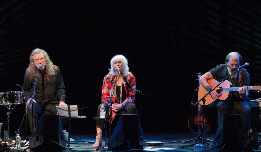 (from left) Robert Plant, Emmylou Harris and Steve Earle.  (Erica Bruce)