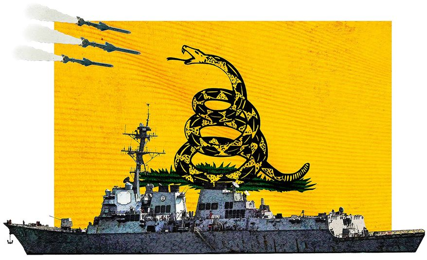 Missile Attack Illustration by Greg Groesch/The Washington Times
