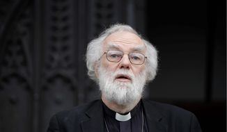 British former Archbishop of Canterbury Rowan Williams will preach at an Episcopal church in northwest D.C. on Nov. 6, the Feast of All Saints. (Associated Press)