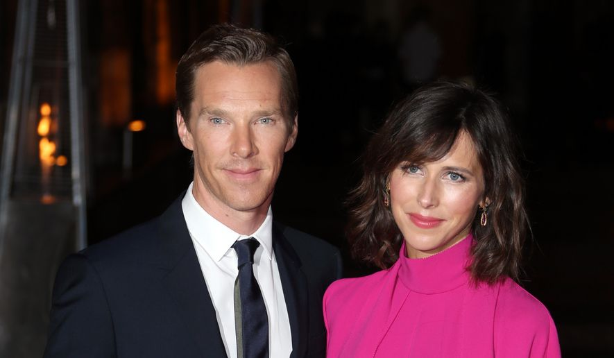 Actor Benedict Cumberbatch and his wife Sophie Hunter pose for photographers upon arrival at the launch event of the film 'Doctor Strange', at Westminster Abbey in London, Monday, Oct. 24, 2016. (Photo by Joel Ryan/Invision/AP)