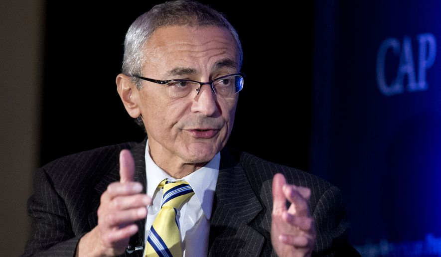 John Podesta speaks in Washington, in this Nov. 19, 2014, file photo. (AP Photo/Manuel Balce Ceneta, File)