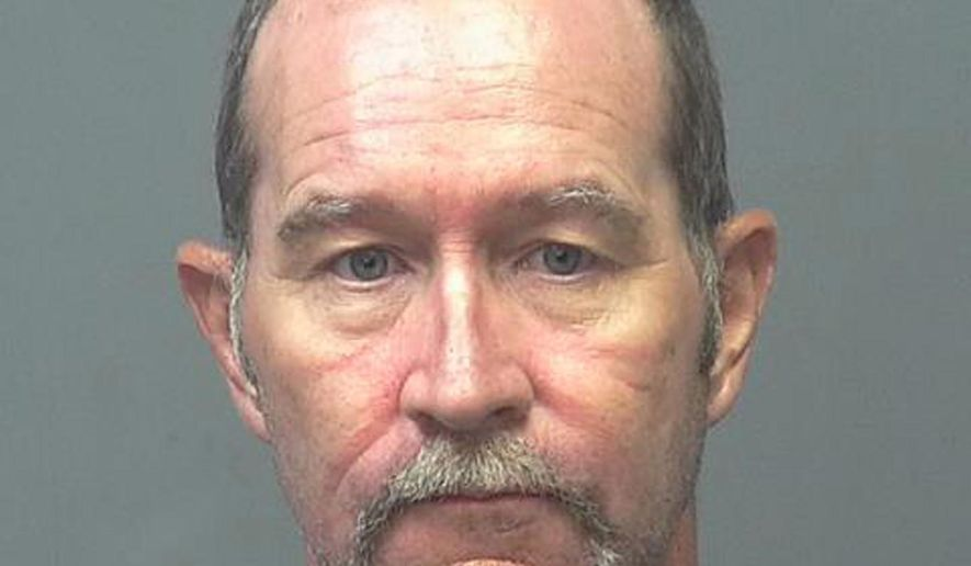 This undated photo provided by the Sierra Vista Police shows Keith White. White was arrested in Sierra Vista, Ariz., Monday, Oct. 24, 2016, on suspicion of second-degree murder in the death of Brian Cook early Sunday morning. Police say White strangled his roommate during an argument, stuffed the body in a suitcase in a closet and hosted a barbecue for two other people the next day.(Sierra Vista Police via AP)