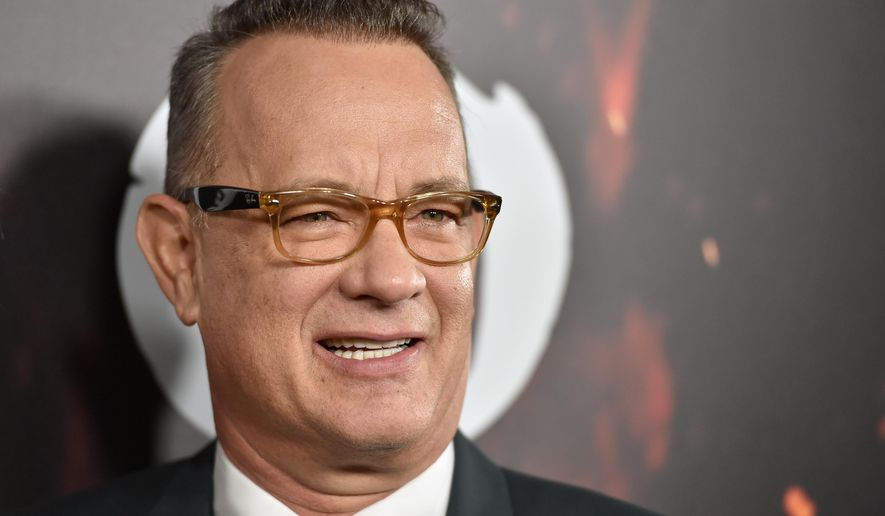 "Tom Hanks arrives at a special screening of ""Inferno"" at the Directors Guild of America Theatre on Tuesday, Oct. 25, 2016, in Los Angeles. (Photo by Jordan Strauss/Invision/AP)"