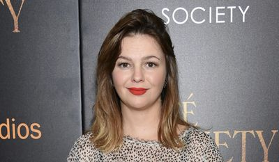 """In this July 13, 2016, file photo, actress Amber Tamblyn attends the premiere of Amazon Studio and Liongate's """"Cafe Society"""", in New York. (Photo by Evan Agostini/Invision/AP, File)"""