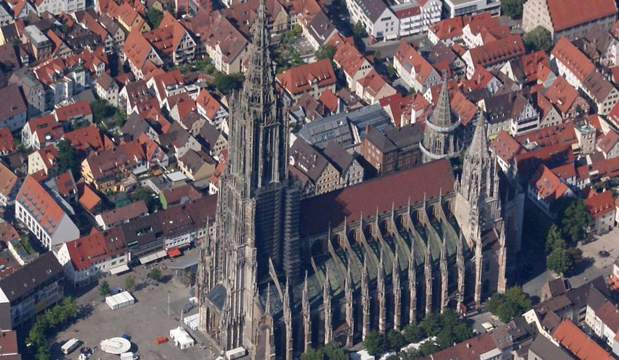 The historic Ulm Minster in Ulm, Germany.  By Karle3 (File:Ulm-Muenster-20140719-1446.jpg) [CC BY-SA 3.0 (http://creativecommons.org/licenses/by-sa/3.0)], via Wikimedia Commons