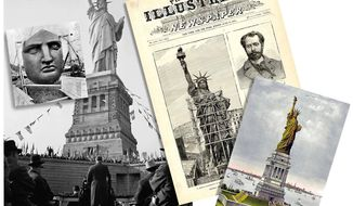Illustration for the 130th anniversary of the dedication of the Statue of Liberty                The Washington Times