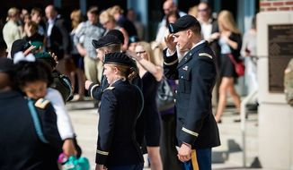Infantry qualified officers wait for family and friends after a graduation ceremony at Fort Benning, Georgia, October 26, 2016. (Facebook, U.S. Army)