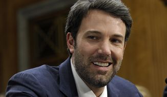 """FILE - In this Wednesday, Feb. 26, 2014 file photo, actor and Eastern Congo Initiative Founder Ben Affleck listens to testimony on Capitol Hill in Washington  during the Senate Foreign Relations Committee hearing on the Congo. Ben Affleck is calling on New Hampshire residents to get out and vote in the upcoming election, Thursday, Oct. 27, 2016. In a new video, the Boston-born Affleck describes New Hampshire as his """"kid brother,"""" while talking in a distinctly Boston accent about how much he loves the state.  (AP Photo/Susan Walsh, File)"""