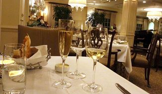 The elegant Lafayette at the Hay-Adams Hotel features a prix-fixe dinner through November. (Photograph by Jacquie Kubin / Special to The Washington Times)