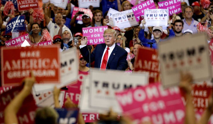 Republican presidential candidate Donald Trump has tapped into the anti-establishment undercurrents that have been building in the electorate for decades. Last week, more than 20,000 people filled an amphitheater in Florida. (Associated Press)