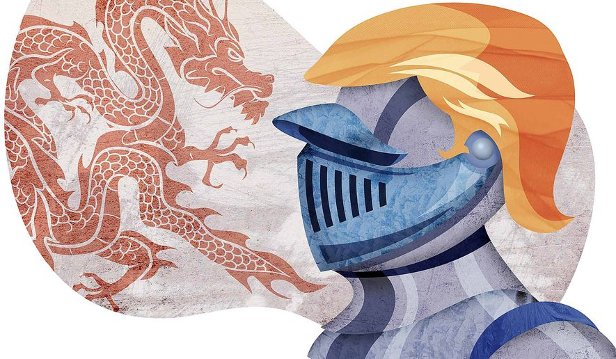 Illustration on Trump's likely situation with China should he become president by Greg Groesch/The Washington Times