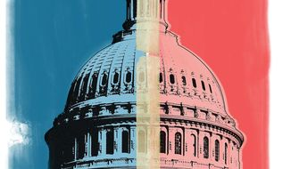 Illustration on the political realities of Congress by Linas Garsys/The Washington Times