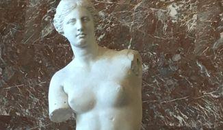 The Venus de Milo at the Louvre in Paris.  (Eric Althoff/The Washington Times)
