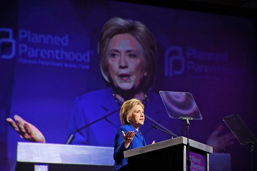 Delivered to Hillary Clinton's campaign headquarters on Monday, a blistering letter signed by more than 25 interdenominational black bishops and pastors finds fault with her commitment to religious liberty and support for abortion rights. (Associated Press)