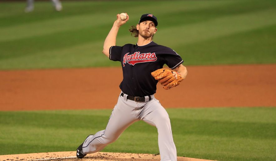 Pitcher Josh Tomlin will start Game 6 of the World Series on Tuesday for the Indians, hoping to win Cleveland's first title clincher at home since 1920. (Associated Press)