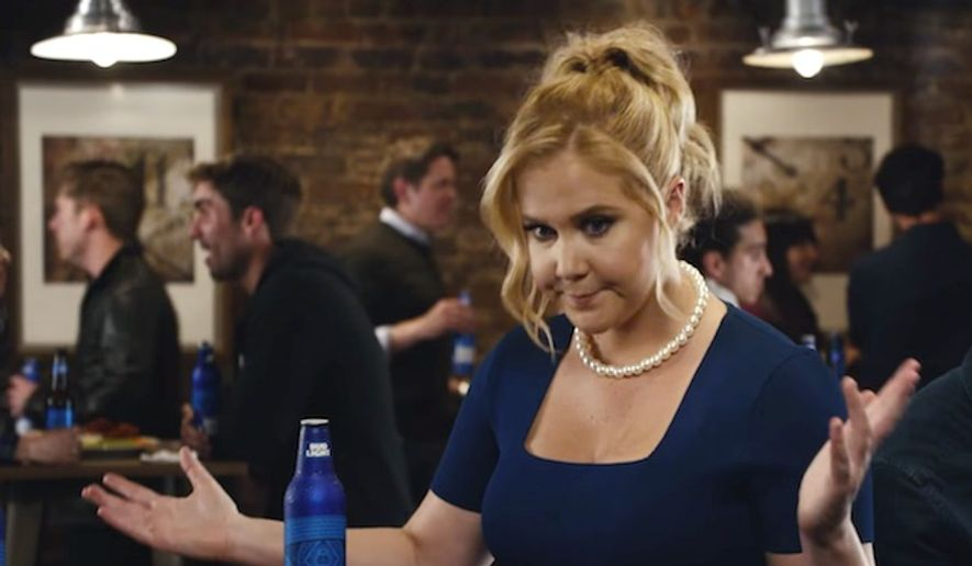 Amy schumers political bud light ads dumped early by anheuser busch comedian amy schumer appears in the bud light commercial quotequal payquot aloadofball Choice Image