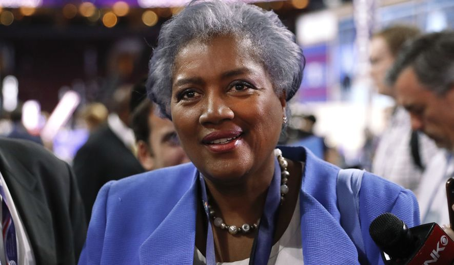 Donna Brazile, interim chair of the Democratic National Committee, appears on the floor of the Democratic National Convention in Philadelphia.  (AP Photo/Paul Sancya, File)