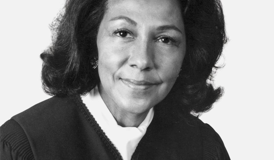 "This 1989 photo provided by Southwestern Law School shows Vaino Spencer, the first female black judge in California and one of the longest-serving jurists in state history. Spencer died of natural causes on Oct. 25, 2016, at the age of 96, her family said. Spencer's niece, Fatimah Gilliam, describes Spencer as ""a trailblazer and a self-made woman in an era when there were few opportunities for women and people of color."" (Southwestern Law School via AP)"
