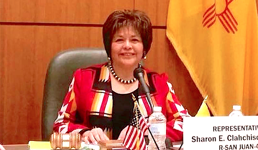 New Mexico State Rep. Sharon Clahchischilliage has joined a new Native American Coalition formed to support  GOP nominee Donald Trump. (Image courtesy of Rep. Sharon Clahchischilliage)