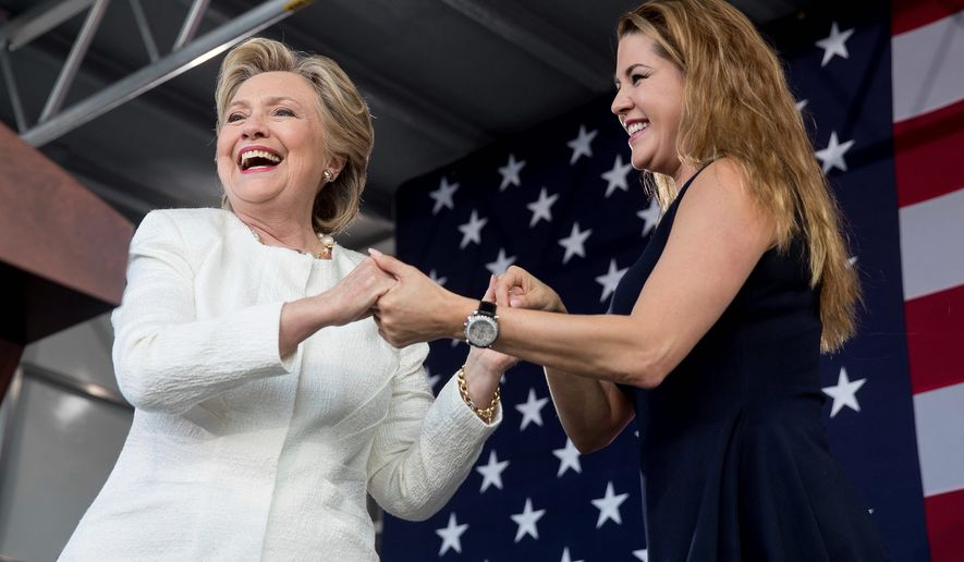 Alicia Machado, the Miss Universe pageant winner in 1996, came to bat for Hillary Clinton to decry Donald Trump's anti-woman comments. (Associated Press)