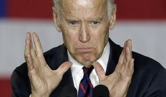 Vice President Joe Biden speaks at a campaign rally for Democratic presidential candidate Hillary Clinton in Charlotte, N.C., Tuesday, Nov. 1, 2016. (AP Photo/Chuck Burton)