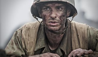 "This image released by Summit shows Andrew Garfield in a scene from ""Hacksaw Ridge."" (Mark Rogers/Summit via AP)"