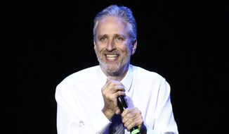 Jon Stewart performs at Stand Up For Heroes, presented by the New York Comedy Festival and the Bob Woodruff Foundation, at The Theater at Madison Square Garden on Tuesday, Nov. 1, 2016, in New York. (Photo by Greg Allen/Invision/AP) ** FILE **