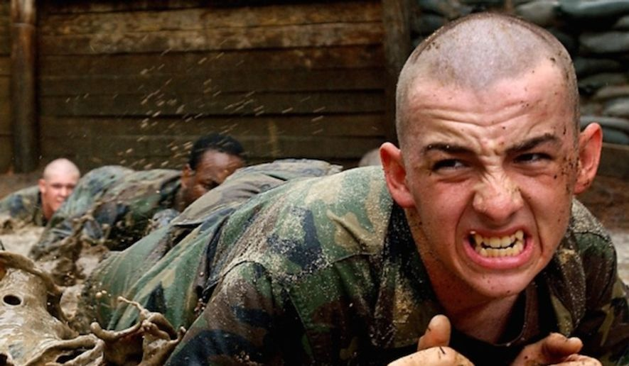 Trainees take part in Army Basic Combat Training at Fort Jackson, S.C. (Department of Defense) ** FILE **