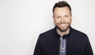 """In this Oct. 28, 2016 photo, actor and author Joel McHale poses for a portrait in New York to promote his book, """"Thanks for the Money: How to Use My Life Story to Become the Best Joel McHale You Can Be."""" (Photo by Victoria Will/Invision/AP)"""