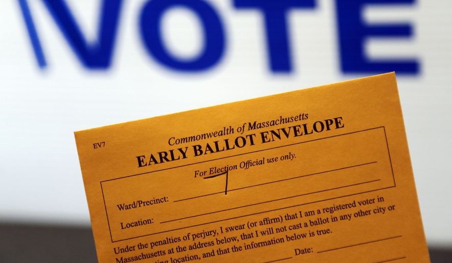 While early voting may seem more convenient, it actually decreases turnout. (Associated Press/File)