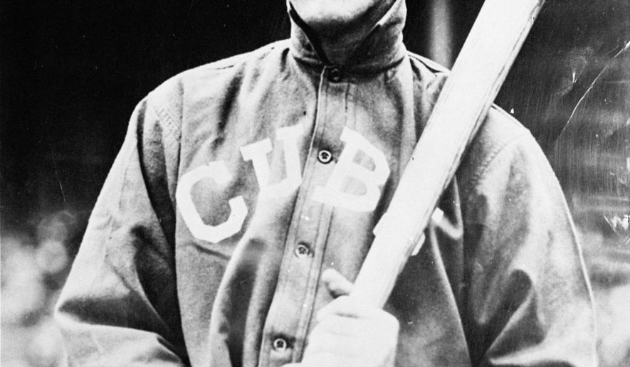 FILE - This is an undated file photo showing Chicago Cubs' Johnny Evers. Some Cubs fans are hopping they can break a 108-year-old World Series championship drought by leaving items at the New York grave of the middle man in the team's famed Tinker-to-Evers-to-Chance double-play combination. Evers is buried in Troy. Chicago fans have made the pilgrimage to his gravesite, where they've left candles and Cubs-related items, apparently in an effort to awaken enough of a winning spirit to beat the Cleveland Indians in the World Series. (AP Photo/File)