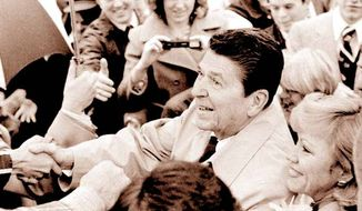 Ronald Reagan campaigning in 1980
