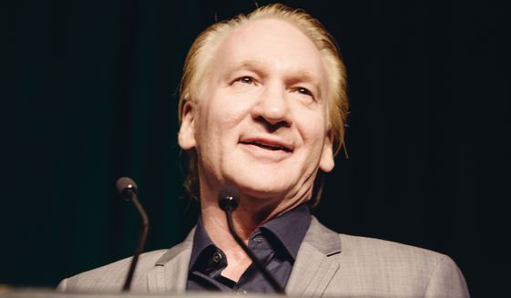 """Bill Maher, winner of the First Amendment Award, speaks to the crowd at the 26th Annual Literary Awards Festival at the Beverly Wilshire Hotel on Wednesday, September 28, 2016, in Beverly Hills, Calif., in this file photo. On the Friday, Feb. 3 edition of his """"Real Time with Bill Maher,"""" the liberal comedian spoke out against the anti-free speech climate at UC Berkeley that resulted in Milo Yiannopoulos's planned speech being canceled and ended in riots on the campus.  (Photo by Casey Curry/Invision/AP)"""