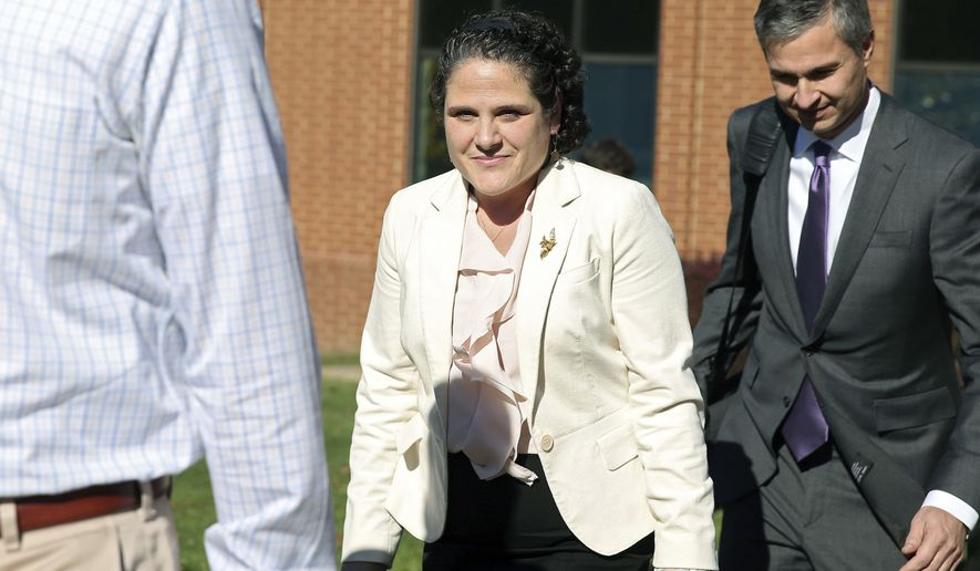 "University of Virginia administrator Nicole Eramo claimed the 2014 article ""A Rape on Campus"" portrayed her as a villain who sought only to protect the university. She had sued for $7.5 million. (Associated Press)"