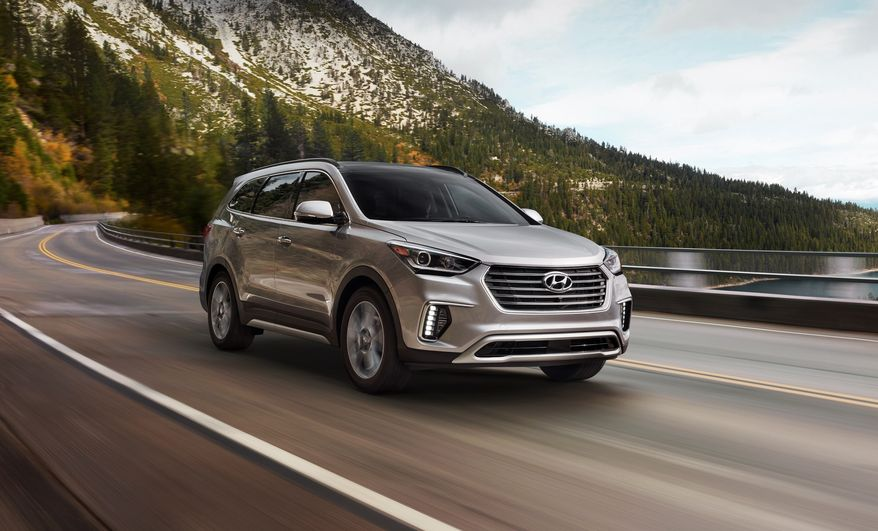 The trim levels for this six to seven-passenger midsize 2017 Hyundai Santa Fe include the base SE, Limited, SE Ultimate or the Limited Ultimate. (Photo courtesy of Hyundai)