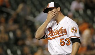 Orioles closer Zach Britton went 47 for 47 on save attempts in 2016 and posted an era of 0.54. (Associated Press)
