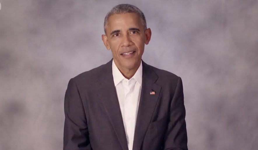 President Obama in a Nov. 8 message tweeted by Spotify urging American listeners of the music-streaming service to get out and vote. Image via screen capture.